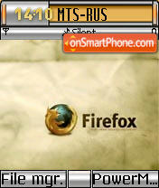 Firefox tema screenshot