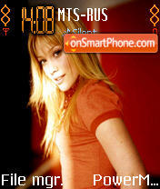 Hilary Duff theme screenshot