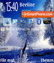 Winter 240x320 theme screenshot