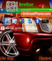Скриншот темы Green Car
