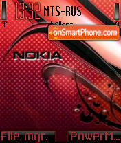Red Carbon Nokia tema screenshot