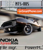 Nokia Xpress Ride 02 theme screenshot