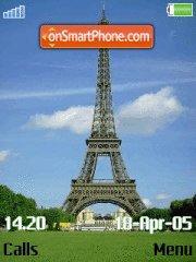Eiffel Tower es el tema de pantalla