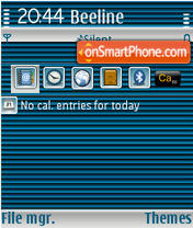 Blue Stripped QVGA theme screenshot