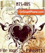 L'Amour Heart theme screenshot