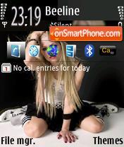 Avril 07 theme screenshot