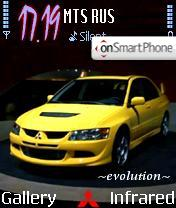Mitsubishi EVO8 theme screenshot