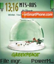 No More Winter Greenpeace es el tema de pantalla