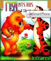 Winnie the Pooh and Tigra theme screenshot