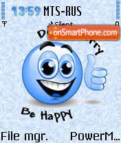 Be Happy es el tema de pantalla