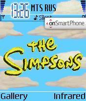 Скриншот темы The Simpsons 01