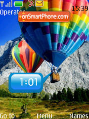 Clock - Balloon theme screenshot
