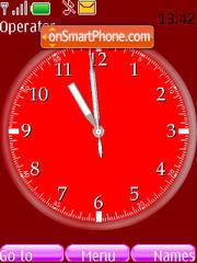 Swf Purple Clock es el tema de pantalla