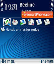 Infiniti 01 theme screenshot