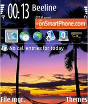 Capture d'écran Fiji Sunset thème