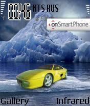 Скриншот темы Ferrari On The Rocks