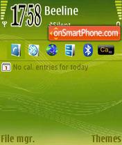 Green Music Edition es el tema de pantalla
