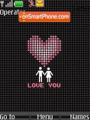 Love You 02 tema screenshot