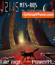 Black Cat 03 theme screenshot