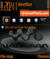 Скриншот темы Walkman v2a