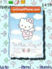 Hello Kitty Blue 01 theme screenshot