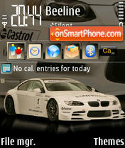 Скриншот темы Bmw M3 Race