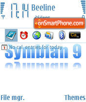 Symbian9 theme screenshot
