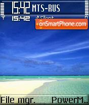 Beach theme screenshot