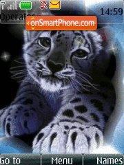 Animals Snow Leopard theme screenshot