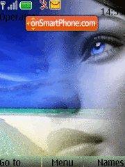 Blue eyes theme screenshot