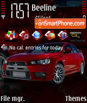 Lancer Evo X 02 Theme-Screenshot