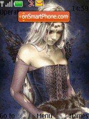 Goth Angel theme screenshot