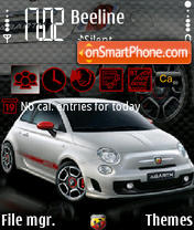 Fiat 500 Abarth theme screenshot