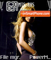 Lindsay Lohan theme screenshot