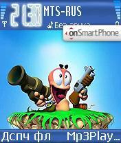 Worms es el tema de pantalla