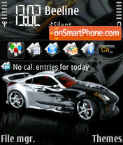 Nissan 350z 04 theme screenshot