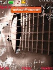 Music Guitar theme screenshot