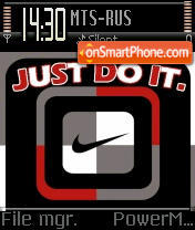 Cool Nike theme screenshot