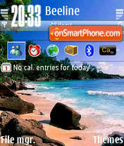 Beach 25 theme screenshot
