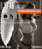 Sexy Angel tema screenshot