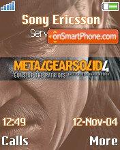 Metal Gear Solid 4 es el tema de pantalla