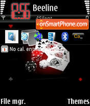 Poker theme screenshot