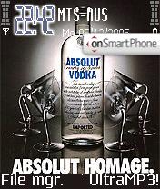 Vodka Absolute theme screenshot