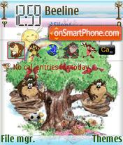 Picnic Taz Animated theme screenshot