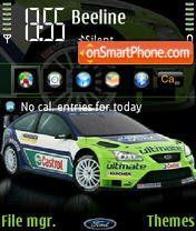 Ford Focus Wrc theme screenshot