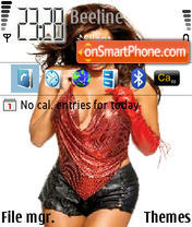 Скриншот темы Candice Michelle