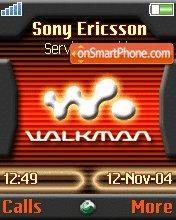 W810 Walkman theme screenshot