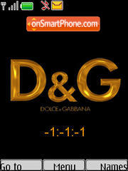 D&G Clock theme screenshot