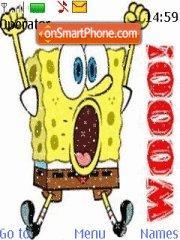 Скриншот темы Bubbly Spongebob