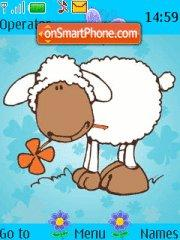 Sheep with Flower es el tema de pantalla